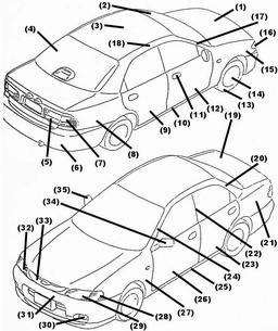 car_panels_small car panel diagram car fuse panel diagrams \u2022 edmiracle co  at edmiracle.co